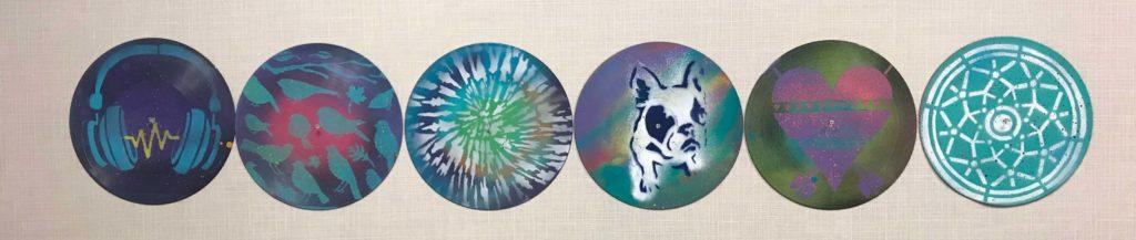 boho vinyl record art